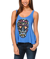 Glamour Kills Day Of The Living Blue Tank Top