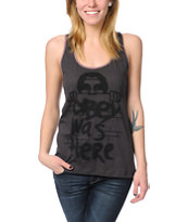 Obey Was Here Charcoal Rookie Tank Top