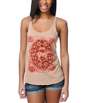 Obey Buckle Up Heather Khaki Racerback Tank Top