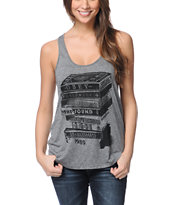 Obey Tower Of Tapes Black Mock Twist Tank Top