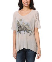 Obey Fox Grey Harmony Top