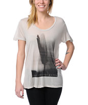 Obey Birds Of A Feather Natural Grey Beau Tee Shirt