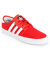 Adidas Seeley University Red & Running White Canvas Skate Shoe