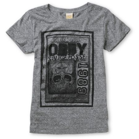 Obey Punk Flyer Heather Grey Tri-Blend Tee Shirt