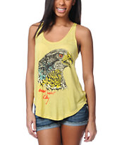 Obey Animal Instinct Yellow Melody Tank Top