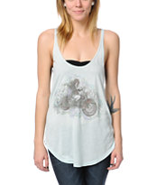 Obey Take It Easy Light Blue Melody Tank Top
