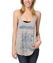 Obey Storm On The Horizon Grey Melody Tank Top