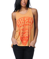 Obey Facing Dynamite Gold Open Back Tank Top