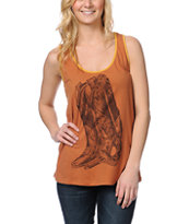 Obey Venomous Fashion Brown Rookie Tank Top