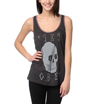 Obey Deadly Skull Charcoal Rookie Tank Top
