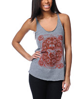 Obey Buckle Up Heather Grey Racerback Tank Top