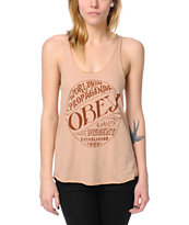 Obey Quality Heather Khaki Racerback Tank Top