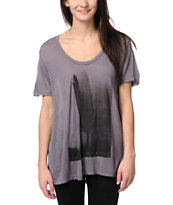Obey Birds Of A Feather Mauve Purple Beau Tee Shirt