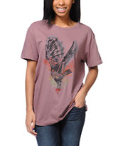 Obey Taking Flight Mauve Tomboy Tee Shirt