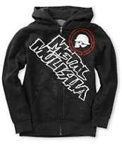 Metal Mulisha Boys Trigger Charcoal Zip Up Hoodie