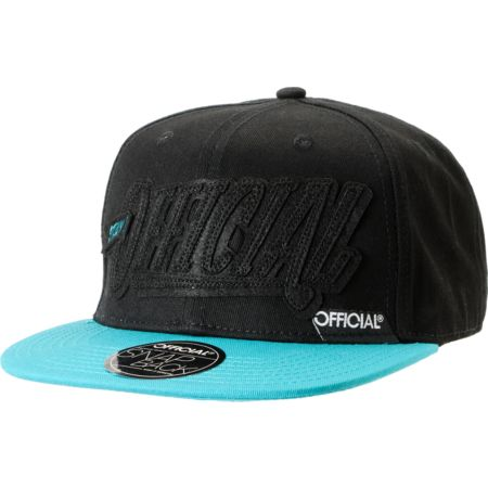 Official Stay Official Black On Black Snapback Hat