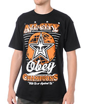 Obey 89 Champs Black & Orange Tee Shirt