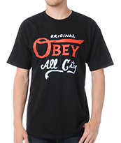 Obey All City Original Black Tee Shirt