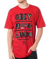 Obey Guys Port Au Prince Red Tee Shirt