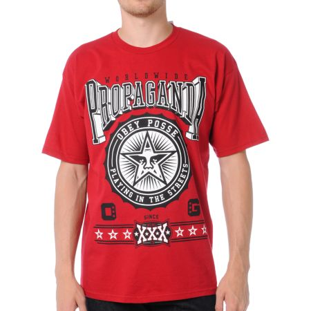 Obey Pro Bowl Red Tee Shirt