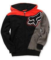 Fox Boys Sledge Red Thermal Zip Up Hoodie