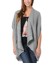 Element Girls Estonia Grey Wrap Cardigan Sweater