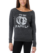 Obey Girls OG Family Vandal Crew Neck Sweatshirt