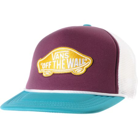Vans Prune Purple & Teal Patch Snapback Trucker Hat