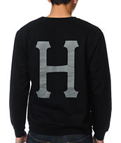 Huf 6 Pack Black Crew Neck Sweatshirt