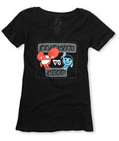 Neff x Dead mau5 Girls Versus Black Scoop Neck Tee Shirt