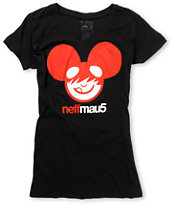 Neff x Deadmau5 Girls Icon Black V-Neck Tee Shirt