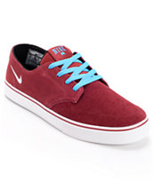 Nike Braata LR Red, Blue & White Skate Shoe