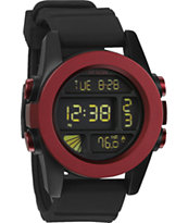 Nixon The Unit Red & Black Anodaze Digital Watch