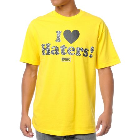 DGK Safari Haters Yellow Tee Shirt
