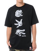 Booger Kids Rock, Paper, Cut Black & Grey Tee Shirt
