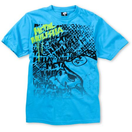 Metal Mulisha Boys Press Turquoise Tee Shirt