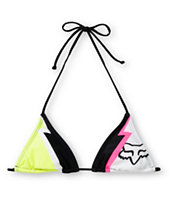 Fox Girls Faster Than Lightning Triangle Bikini Top