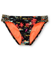 Hurley Swim Flamo Side Strap Bikini Bottom
