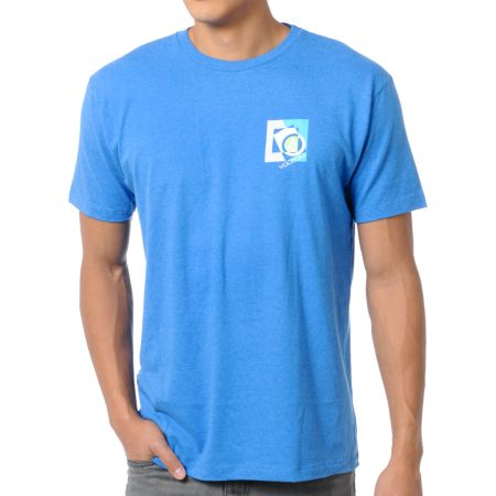 Volcom Boxicle Heather Blue Tee Shirt