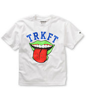Trukfit Boys Board Lickr White Tee Shirt