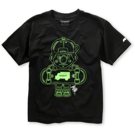 Trukfit Boys Lil Tommy Outlines Black Tee Shirt