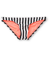 Volcom Girls Jail Bird Stripe Basic Bikini Bottom