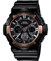 G-Shock GA200RG-1A X-Large Black & Rose Gold Watch