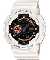 G-Shock GA110RG-7A White & Rose Gold Watch