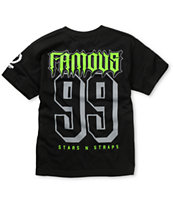 Famous Stars & Straps Boys Rally Fam Black & Lime Tee Shirt