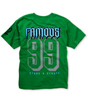Famous Stars & Straps Boys Rally Fam Green Tee Shirt
