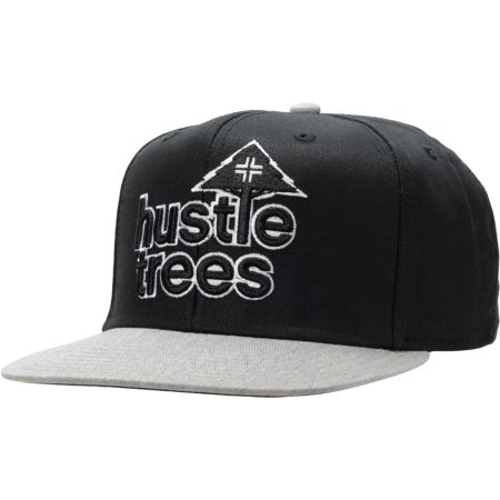 LRG Hustle Trees Black & Grey Snapback Hat