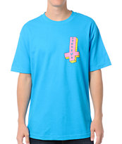 Odd Future Its Us Cross Turquoise Tee Shirt