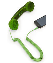 Native Union POP Green Snake Print Retro Phone Handset