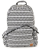 Volcom Going Study Black & White Laptop Backpack